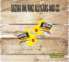 Suzuki RM H. 65 85 125 250 450 Rad Cucharadas Pegatinas Motocross Calcomanías Gráficos 0