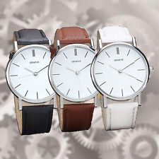 Fashion Women Dress Watch Faux Leather Band Analog Quartz Wristwatch Gift