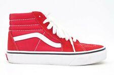 Vans Kids Old Skool Racing Red High Top SK8-HI Skater Shoes Size US 2 EU 32.5