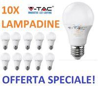 10 LAMPADINE V-TAC LED E27 9W 11W 15W 17W 18W Luce Calda Naturale Fredda BULBO