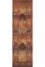 Gabbeh Tribal Rugs Multi Colour Distressed Wool Look Runner 68x235cm 701/X