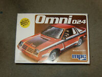 MPC Dodge Omni 024 Plastic Model Car Kit Sealed Inside 1-0789 (c) 1979