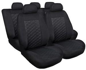 Sitzbezüge Sitzbezug Schonbezüge für Skoda Fabia Schwarz Modern MP-1 Komplettset