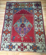 "Antique Turkish Kula Tribal Prayer Rug from the 1940s! ""Unique"""