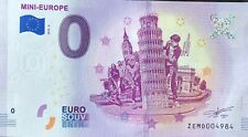 BILLET 0 ZERO EURO SCHEIN SOUVENIR MINI EUROPE 2018-2