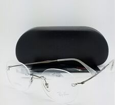 51d69badbf NEW Rayban Prescription Frame Gunmetal RX8747 1000 48mm 8747 AUTHENTIC  rimless