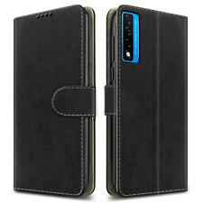 For TCL 20L Case, Slim  Leather Wallet Flip Stand Phone Cover + HD Screen Guard