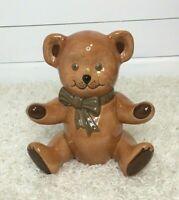 Vintage Ceramic Teddy Bear Large Figurine Nursery Childs Room*
