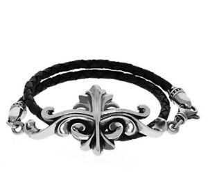 King Baby Studio KB Scroll Double Leather Wrap Bracelet K42-6001