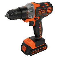 Black & Decker 20V MAX Li-Ion Matrix Drill Driver Kit BDCDMT120C New