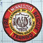 MINNESOTA, FIRE RESCUE TRAINING PINE TECH VOCATIONAL EDUCATION PATCH