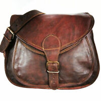 Bag exotic Leather Vintage Shoulder Purse Handbag Brown Cross Body Satchel