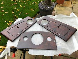 Classic Mini Wood Dashboard Ex Display Burr Walnut 3 Piece 3 Clock Centre Dash