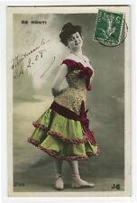 c 1908 Cabaret Shapely Lady Mlle. DE MONTI Theater Music Hall photo postcard