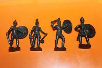 Einzelfiguren  - Metallfiguren Satz griechische Krieger 1977