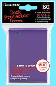 60 Ultra Pro DECK PROTECTOR Small Size Game Card Sleeves PURPLE NEW YuGiOh pack