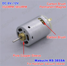 DC 6V-12V Mabuchi RS-385SA Small Mini motor for blow hair drier Vacuum cleaner