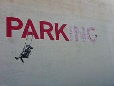 Banksy Parking Girl Swing Ed.300 Firma Impresa Ed.numerado a lapiz Spain