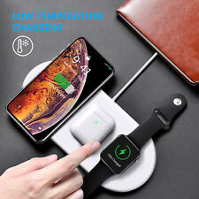 3In 1 Qi Wireless Charger Fast Charging Pad For Airpods iWatch iPhone X/8 /11