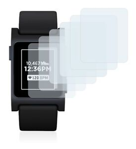 Pebble 2  Smart Watch,  6x Transparent ULTRA Clear Screen Protector