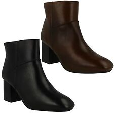 F50656 LADIES LEATHER COLLECTION CASUAL ZIP UP SMART TROUSER WINTER ANKLE BOOTS