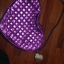 Someday Justin Bieber Purple Heart Quilt design Shoulder bag Handbag Purse