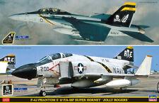 Hasegawa 52147 - 1/72 F-4J Phantom II & F/A-18F Super Hornet - Jolly Rogers