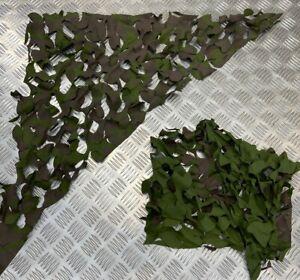 Genuine British Forces Mk7 Camouflage Net Garnish Matt Patches X 2 - NEW