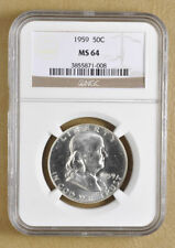 Uncirculated NGC Certified MS 64 Graded US Half Dollar Coins