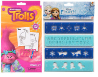 Kids Stencils Set 5pcs Trolls,Frozen 4Pcs Creative Toy Girls Xmas Gift Set 3+y