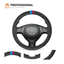 Black Suede Steering Wheel Cover for BMW E36 E36/5 E46/5 5 Series E39 M3 M5 G143