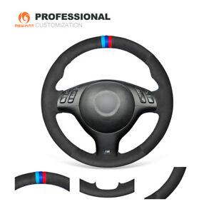 Car Steering Wheel Cover Black Suede for BMW E36 E36 5 E46 5 5 Series E39 M3 M5