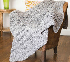 "KNITTING PATTERN - EASY KNIT CABLE AFGHAN ONE SIZE 36"" X 50"""