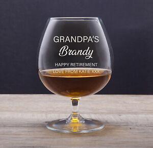 Personalised Engraved Brandy Glass Godfather Best Man Birthday Wedding Gift Idea