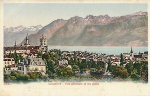 LAUSANNE - Vue Generale et Les Alpes - Switzerland - udb (pre 1908)