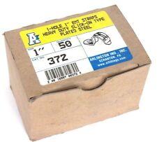 """BOX OF 50 NEW ARLINGTON 372 HEAVY DUTY CLICK-ON EMT STRAPS 1-HOLE 1"""""""