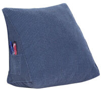 Microfiber Filled Triangle Wedge Reading Pillow, Bloster for Bedrest TV Cushion