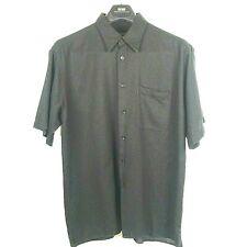 Mondo di Marco Men's Shirt Size XL EU 54 Black Short Sleeve  Italy NWOT A02128