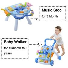 For 3Month to 3ages 2in1 Walking Aids+Music Tool Activity Toy Toddler Stroller