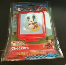 Disney Mickey Mouse Clubhouse Checkers Mini Games W/ Clip N' Go Travel Case