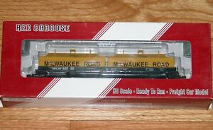 RED CABOOSE RR-32527-5 100 TON EVANS COIL CAR MILWAUKEE ROAD MILW 92222