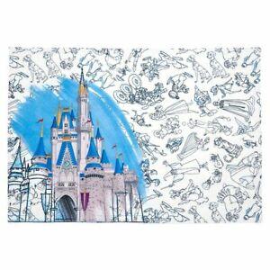Disney Ink & Paint Reversible Placemat – Cinderella Castle