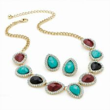 Natural Crystal Costume Jewellery Sets