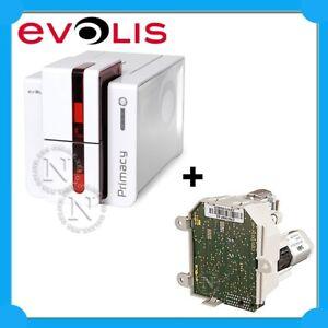 Evolis Primacy Dual Sided USB RED Ethernet Colour ID Card Printer+EXTRA:Encoder