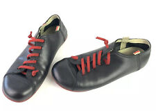 Camper Peu Cami Womens Lo Trainers Black Red Bottoms And Laces Size 39 US 9