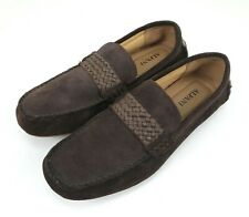 Alfani Mens Size 8 Slip-On Loafers Dark Brown Suede New Without Box