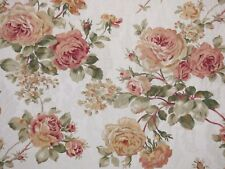 Mill Creek Floral Rose Bouquet IVORY Green Jacquard Drapery Sewing Fabric BTY