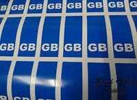 PAIR GB CAR NUMBER PLATE STICKERS Die Vinyl Car Sticker Decal