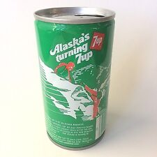 "Vintage 1979 7up ""America's Turning 7 up"" Collectible Soda Can - Alaska"