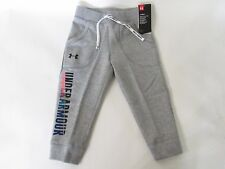 Under Armour ColdGear Toddler Girl's Gray Graphic Fleece Lined Jogger Pants YXS